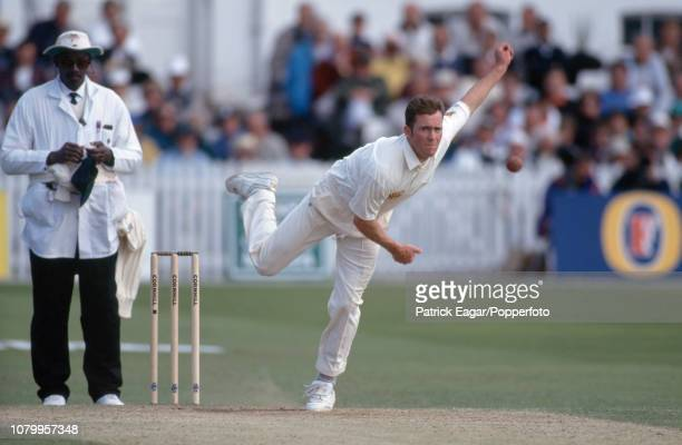 Craig White bowling for England during his Test debut in the 1st Test match between England and New Zealand at Trent Bridge Nottingham 2nd June 1994...