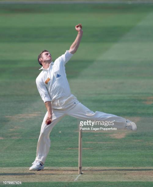 Craig White bowling for England during the 1st Test match between England and South Africa at Lord's Cricket Ground London 21st July 1994 South...