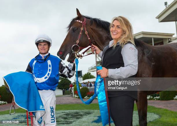 Craig Williams after riding Brave Smash to win race 6 Futurity Stakes during Melbourne Racing at Caulfield Racecourse on February 24 2018 in...