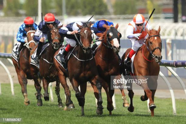 Craig Williams on Vow And Declare wins race 7 the Lexus Melbourne Cup during 2019 Melbourne Cup Day at Flemington Racecourse on November 05, 2019 in...