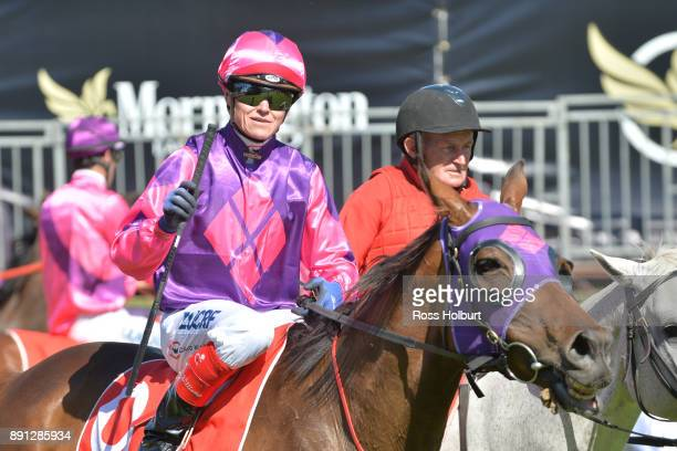 Craig Williams returns to the mounting yard on Raindrops On Roses after winning the Highview Accounting Mornington Hcp at Mornington Racecourse on...