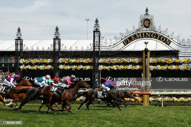 Craig Williams rides Vow and Declare to win race 7 the Lexus Melbourne Cup during 2019 Melbourne Cup Day at Flemington Racecourse on November 05,...