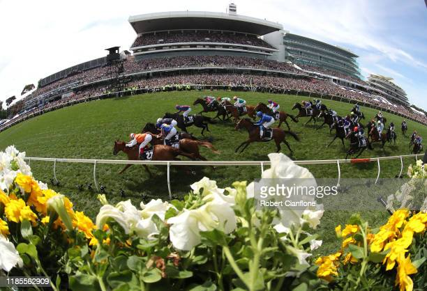 Craig Williams rides Vow and Declare to win race seven the Lexus Melbourne Cup during 2019 Melbourne Cup Day at Flemington Racecourse on November 05...