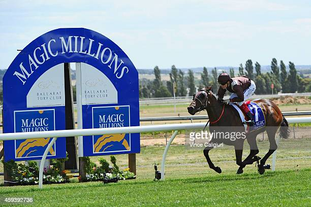 Craig Williams riding Carriages wins Race 6, the Magic Millions Clockwise Classic during the Ballarat Cup Day on November 22, 2014 in Ballarat,...