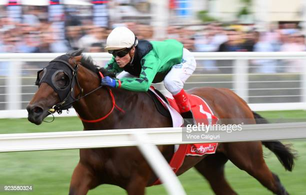 Craig Williams riding Silent Sedition wins Race 5 Mannerism Stakes during Melbourne Racing at Caulfield Racecourse on February 24 2018 in Melbourne...