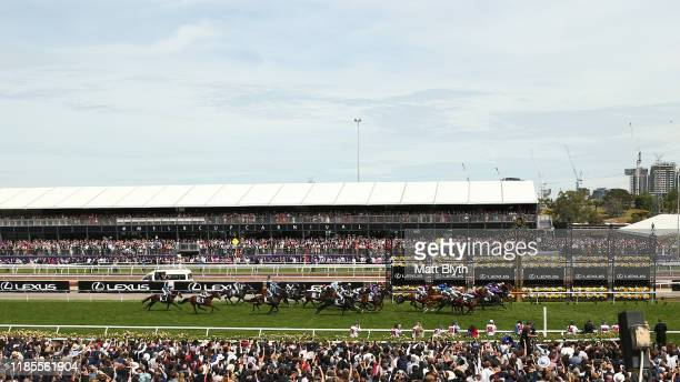 Craig Williams riding Vow And Declare wins race 7, the Lexus Melbourne Cup during 2019 Melbourne Cup Day at Flemington Racecourse on November 05,...