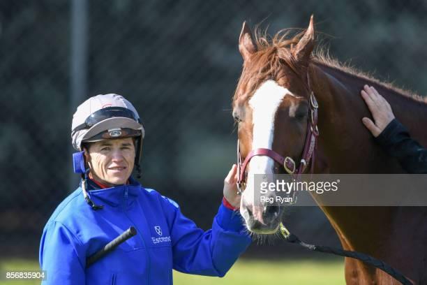 Craig Williams with Admire Deus at Werribee Racecourse on October 03 2017 in Werribee Australia