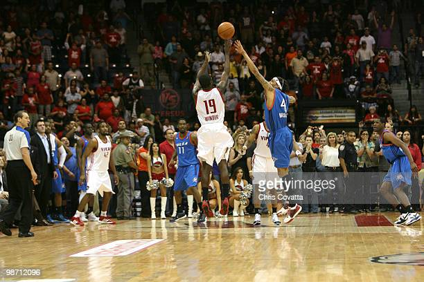 Craig Winder of the Rio Grande Valley Vipers shoots a three pointer at the buzzer to defeat the Tulsa 66ers in Game Two of the 2010 NBA DLeague...
