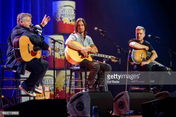 Craig Wiseman Brad Warren and Brett Warren perform at the 13th Annual Stars for Second Harvest Benefit at the Ryman Auditorium on June 6 2017 in...