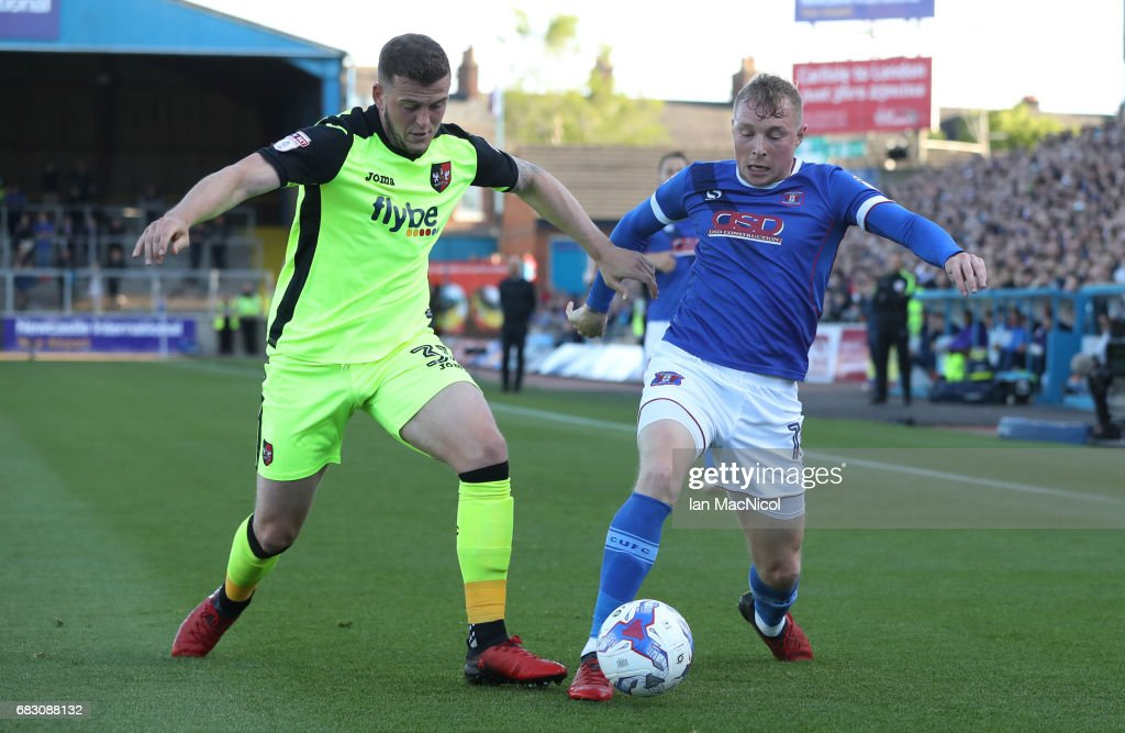 Carlisle United v Exeter City - Sky Bet League Two Play off Semi Final: First Leg : News Photo