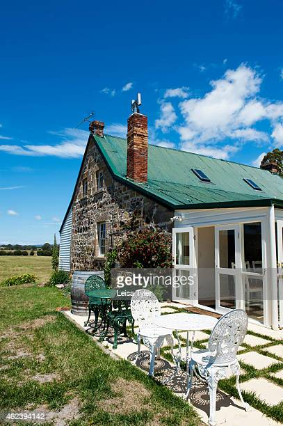 Craigie Knowe a 1842built stone farm house and vineyard converted into luxury villa accommodation in Swansea Tasmania Meaning craggy knoll in Gaelic...