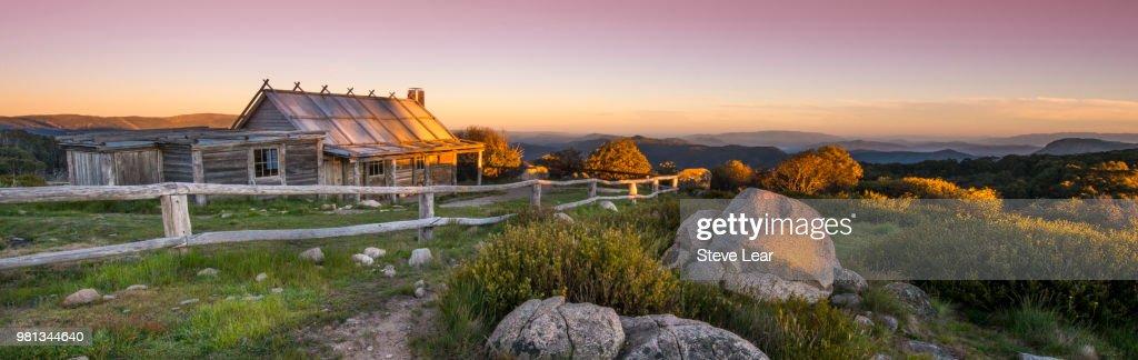 Craigs Hut Sunrise : Stock Photo