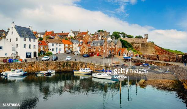 crail fishing village, fife, scotland - fife scotland stock pictures, royalty-free photos & images