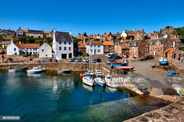 crail village, county fife, scotland - fife scotland stock pictures, royalty-free photos & images