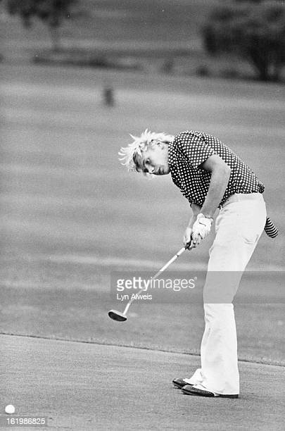 AUG 04 1977 AUG 5 1977 Cramer Rick Ind Golf Rick Cramer putting 15foot birdie put to go 2up to 2 to play ***** The one that killed me