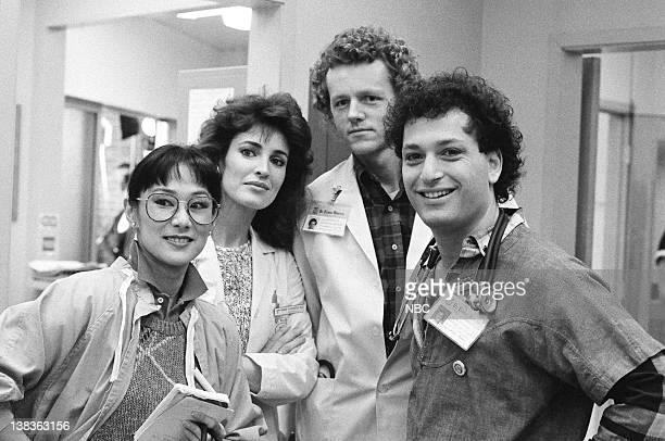 "Cramming"" Episode 20 -- Pictured: Kim Miyori as Doctor Wendy Armstrong, Cynthia Sikes as Doctor Annie Cavanero, David Morse as Doctor Jack Morrison,..."