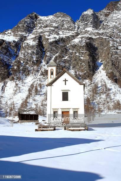 Crampiolo Church Alpe Devero Ossola Valley Verbania province Piedmont Italy