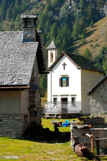 Crampiolo church Alpe Devero Park Ossola Valley Verbania Province Italy