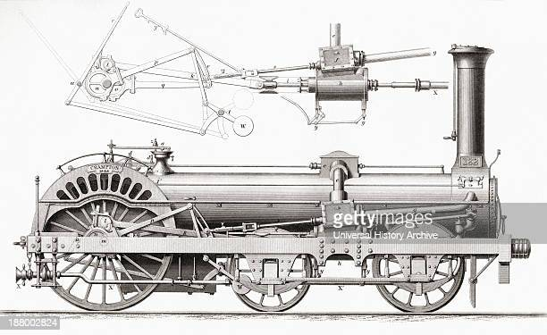 Crampton's Railway Steam Locomotive Engine 19Th Century From Cyclopaedia Of Useful Arts And Manufactures By Charles Tomlinson