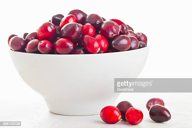 Cranberries in a white bowl