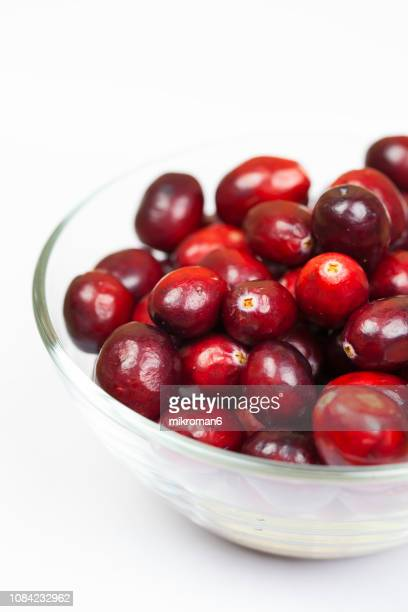 cranberries - cranberry sauce stock photos and pictures