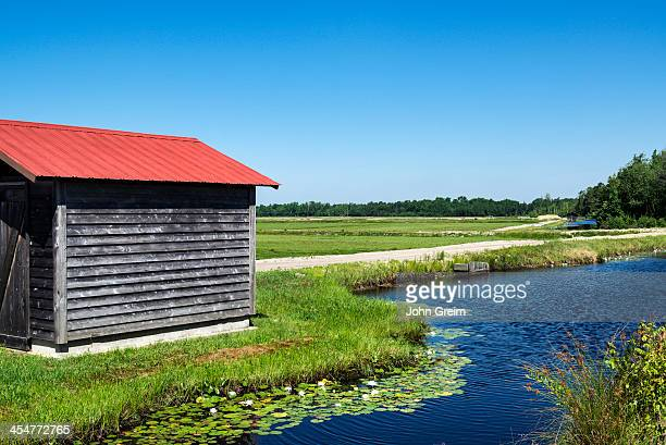 Cranberry bog pump house and irrigation system