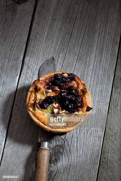 cranberry cheese tart - brie stock photos and pictures