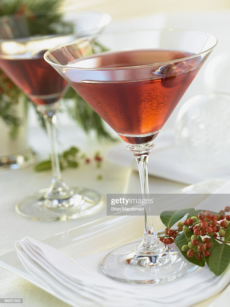 Cranberry martini : Stock Photo