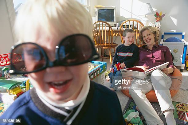 Lisa Beamer and her sons David and Drew at their home Her husband Todd helped fight hijackers on United Airlines Flight 93 which was aimed to crash...