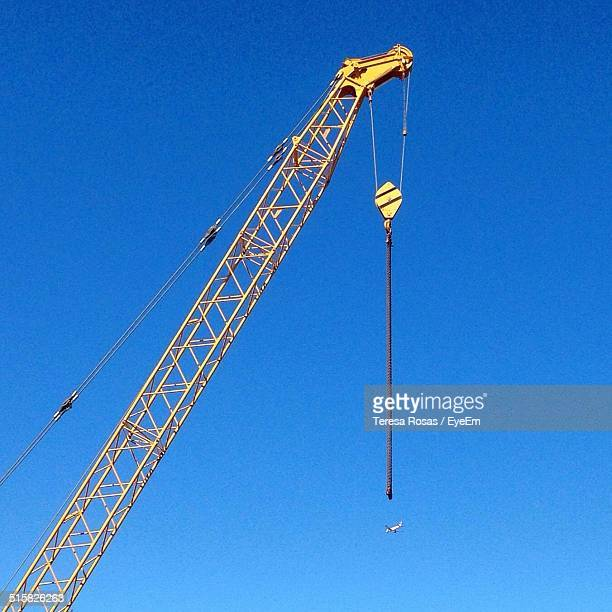 Crane Against Clear Blue Sky
