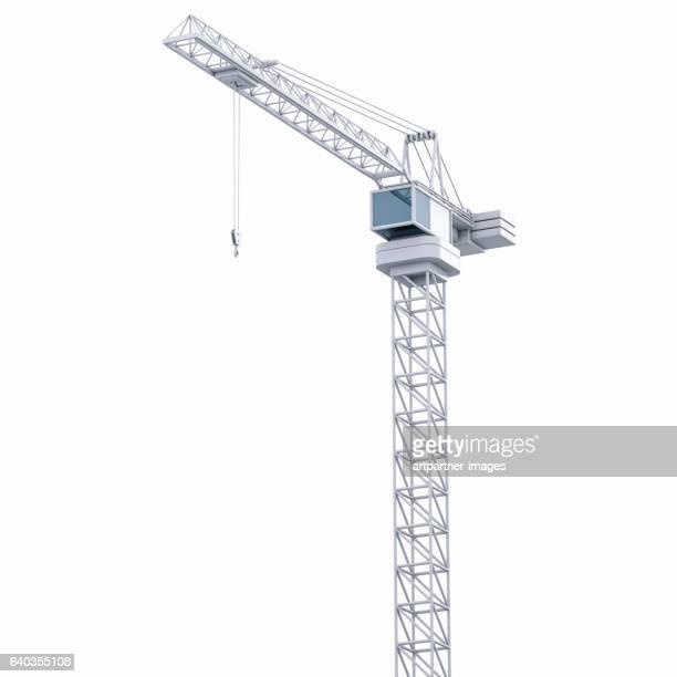 Crane against white background