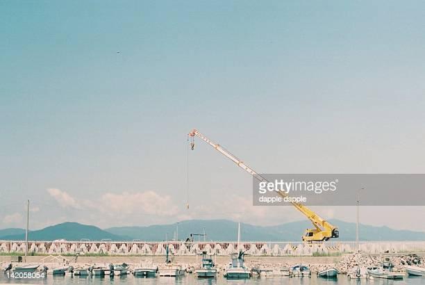 Crane at harbor