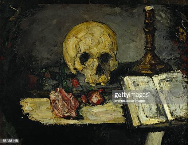 Crane et chandelier skull and candlestick around 1866 Canvas5 x 625 cm [Crane et chandelier Schaedel und Kerzenleuchter Gemaelde 1866]