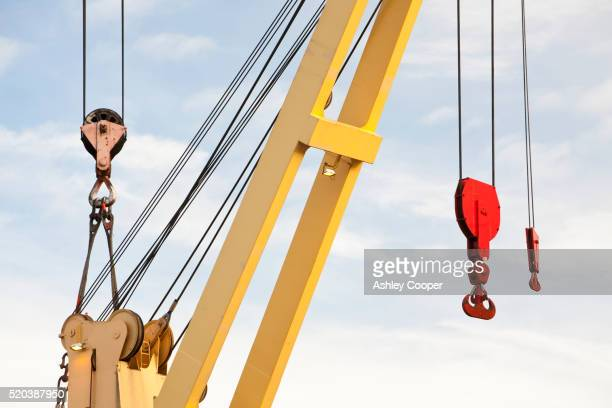 a crane for heavy lifting at duco ltd - crane stock pictures, royalty-free photos & images