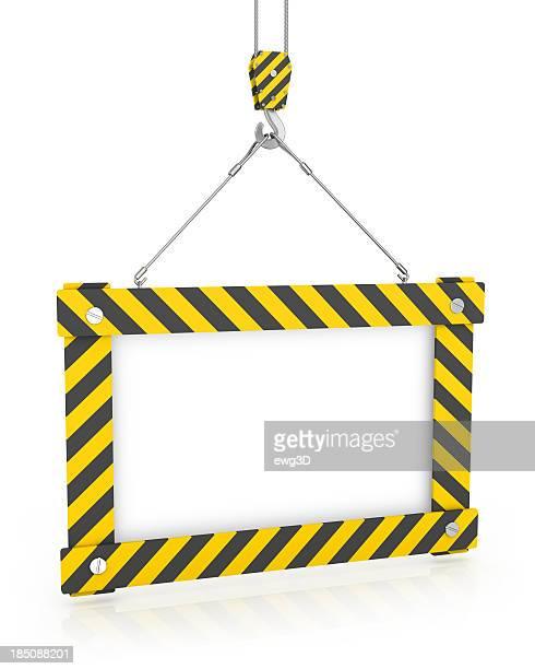 Crane Haken und Weiß Sign