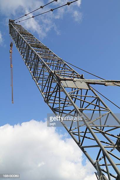 crane - lifting sky is the limit - pejft stock pictures, royalty-free photos & images