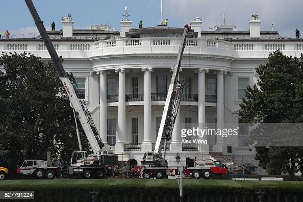 Photos Et Images De West Wing Of White House Undergoes