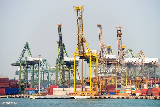 Cranes at a Shipping Dock, Singapore