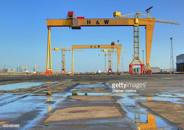 CONTENT] Cranes at Harland and Wolff in Belfast where the Titanic was built Samson and Goliath