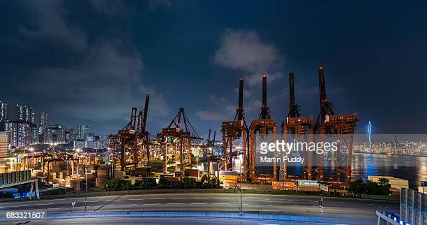 cranes at Hong Kong's container port