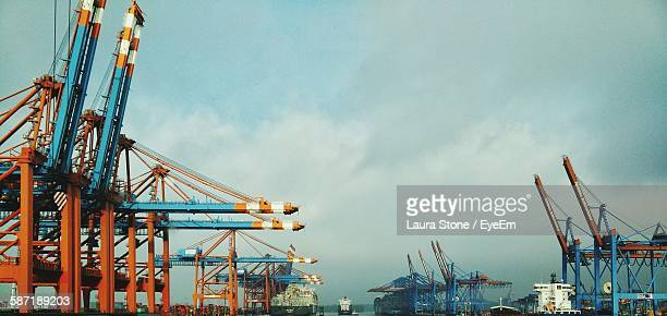 Cranes At Port Of Hamburg