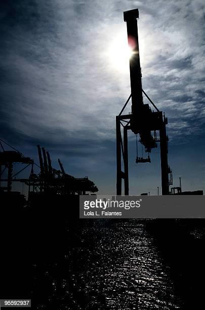 Cranes at the Barcelona's port