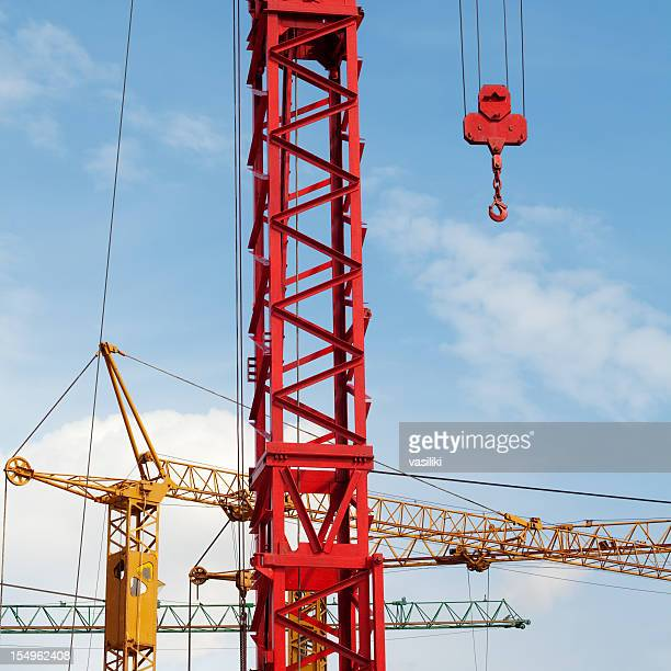 cranes close up - crane construction machinery stock pictures, royalty-free photos & images