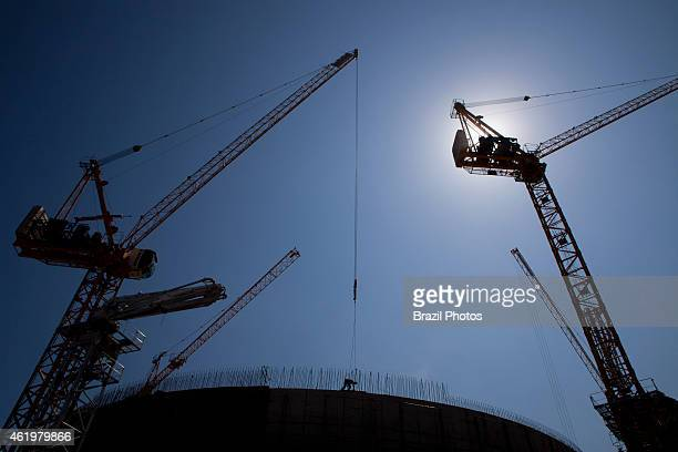 Cranes in operation at the construction of Angra 3 Nuclear Plant