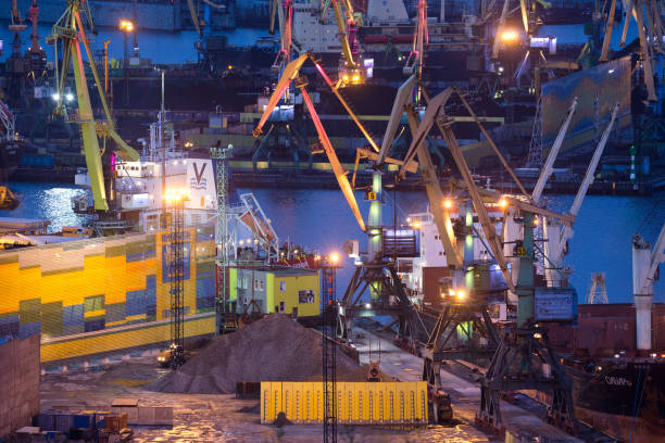 RUS: Views Of Shipping And Freight At Murmansk Port