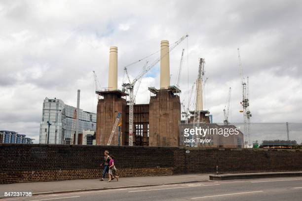 Cranes tower over the Battersea Power Station development July 21 2017 in London England Over the last decade the landscape of South London has...