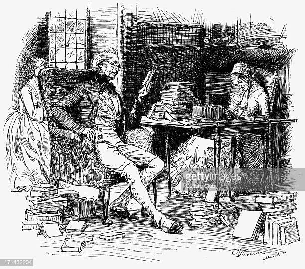 'Cranford' 'Cranford' by Elizabeth Gaskell. Narrated by the charater Mary Smith. Caption reads: 'He had begun a long poem'. . EG: English novelist...