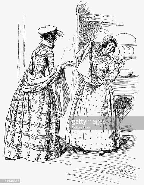 'Cranford' 'Cranford' by Elizabeth Gaskell. Narrated by the charater Mary Smith. Caption reads: 'Don't 'but Martha' me'. . EG: English novelist and...