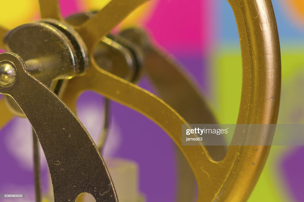 Kurbel Schächte und Riemenscheiben prüfen der Maschine in bronze-Räder : Stock-Foto