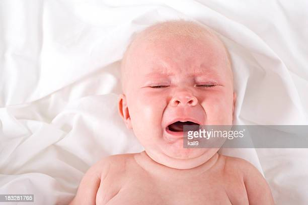 Cranky baby crying and screaming